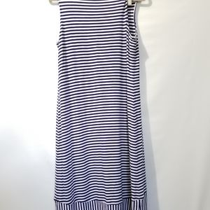 Chicos 2 12 Navy Blue White Striped Tank Dress